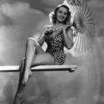 Joan Blondell diving board
