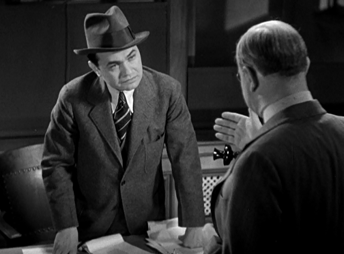 Well, Edward G. Robinson has had enough of it! ... Eventually!