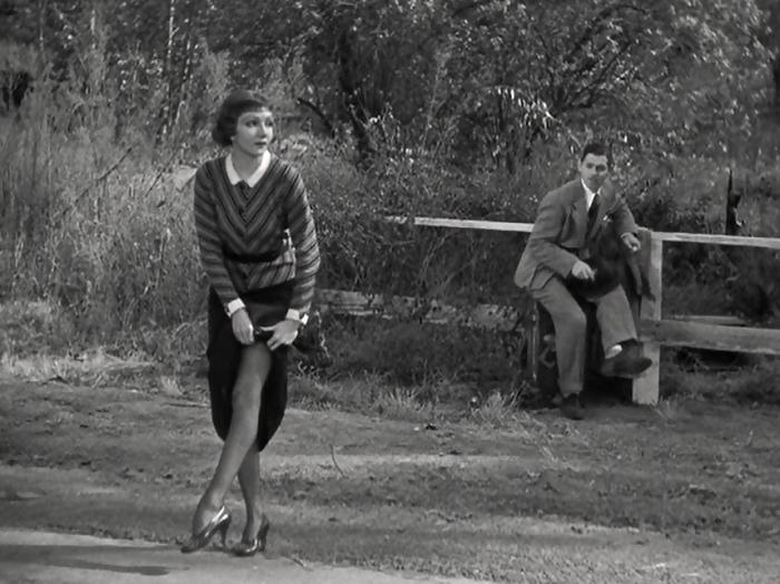 It Happened One Night Colbert Gable Leg 1934