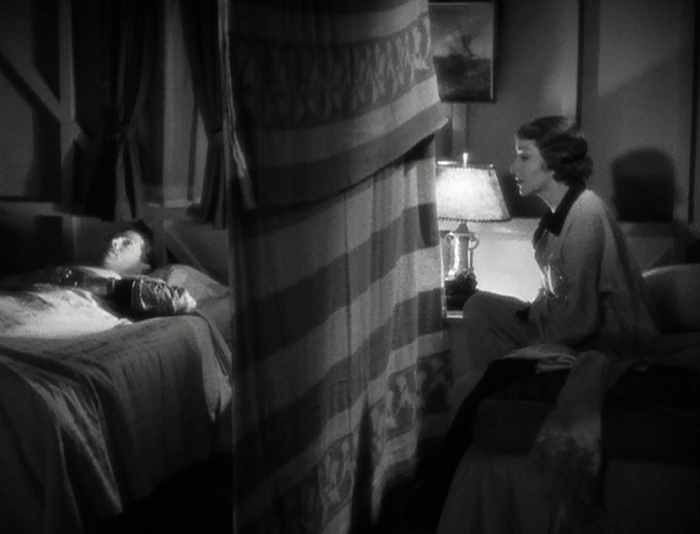 I think it's fairly clever that the 'Walls of Jericho' begin by being filmed at very flat, straightforward angles in their first arrival in the film. Later, when it's obvious the two are melting for each other, Capra angles it to reflect the wall's impending doom.