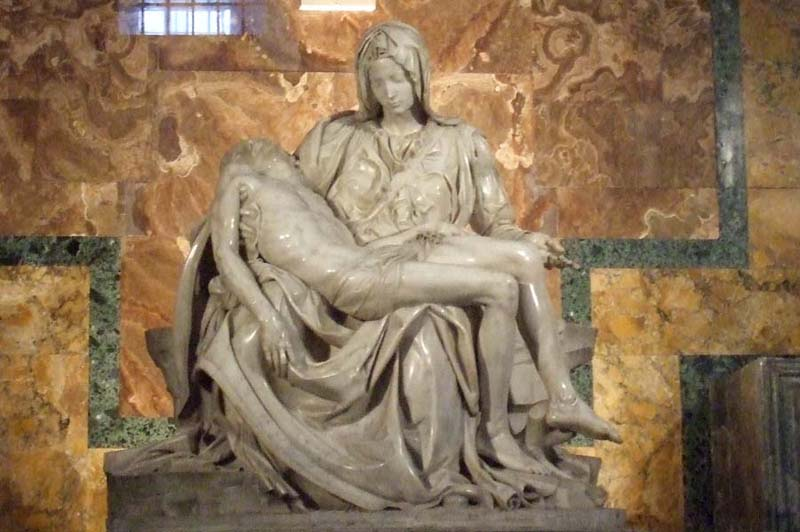 ... the statute The Pieta in Rome (source). Florence's Christ-like compassion at the end of the film, where she almost sacrifices her life and well being to save hundreds of others, earns here this moment of redemption.
