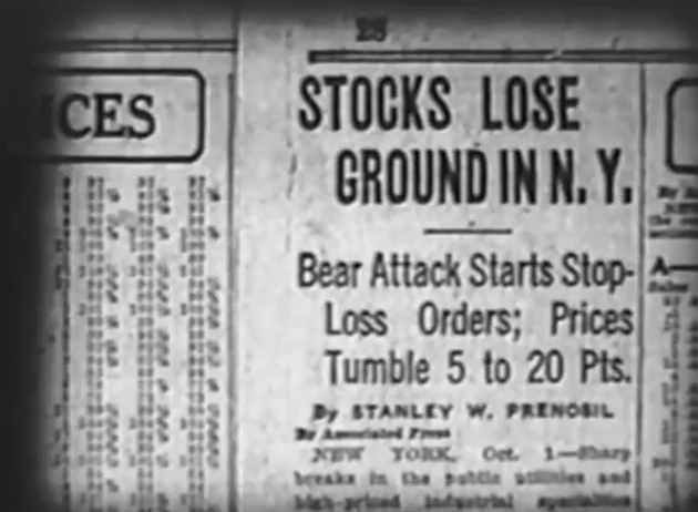 America's #1 threat-- Bear Attacks... on the stock market.