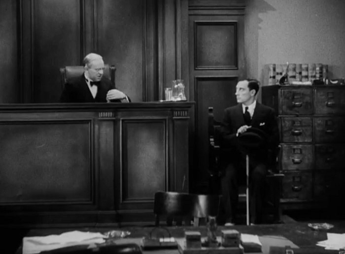 The Three Stooges later reused this bit. And did it better.