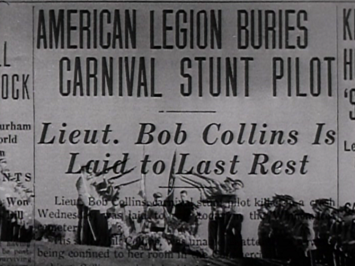 Speaking of relatively obscure things, the interesting thing about watching a lot of movies is that you begin to notice connections. Here, for instance, the image of the funeral for [dadfa]'s brother is actually footage of Lew Ayres from Doorway to Hell.