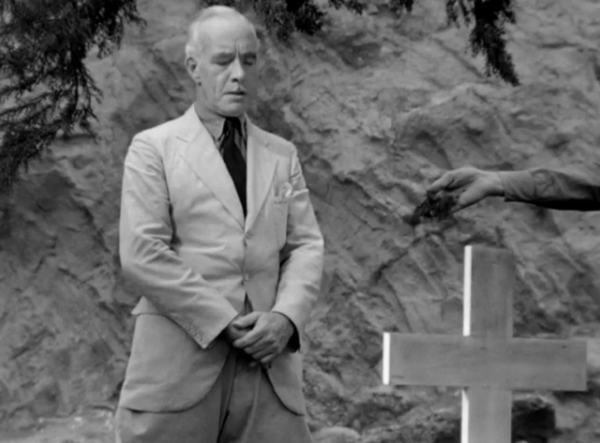 This is a particularly great shot I wanted to call attention to. The cross in the foreground and the off screen hand give this moment such an eerie sense of nobility. Though nothing is stated in direct reverence to Christianity, this funeral scene firmly establishes it as one of the great virtues of the white man.