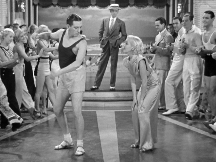 It's interesting that in this film's world that musical numbers just kind of happen, and people can wander into them and be baffled, like Fred here.