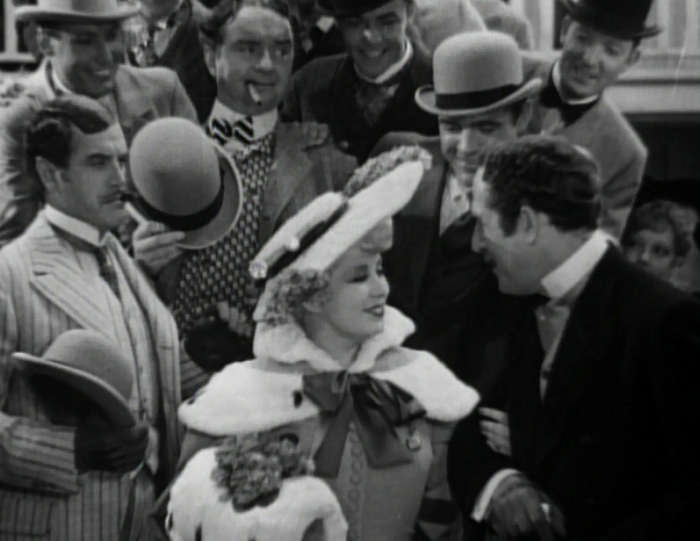 Mae West: the center of her own attention.