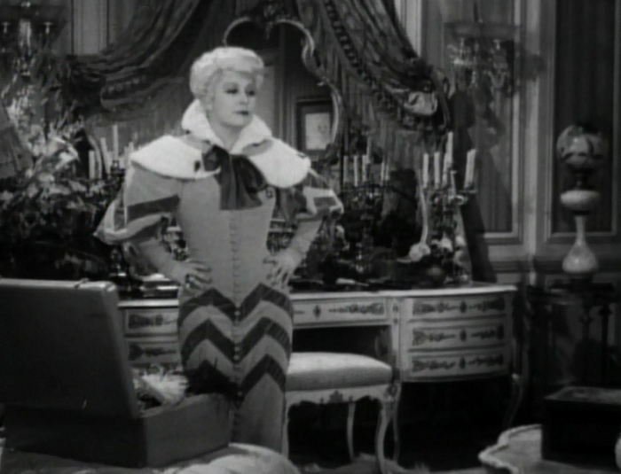 Now let's look at Mae West's clothes. Yeah. Look at them.