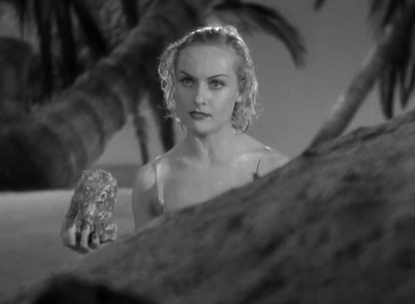 Ooooh, sit right back and you'll hear a tale, a tale of... Carole Lombard. And a rock.