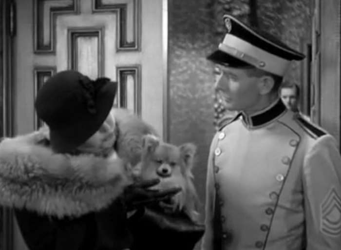 Pre-Code dog watch: a woman tries to bring her pup into the movie theater, but doesn't get away with it.