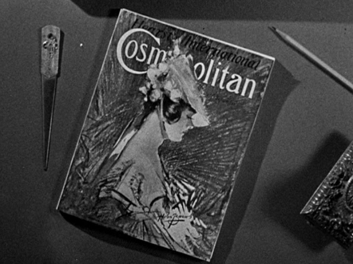 Cosmopolitan's brief appearance in the movie seems to fit right in with the movie's themes. At least, modern Cosmo would fit in.