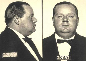 Roscoe Fatty Arbuckle mugshot
