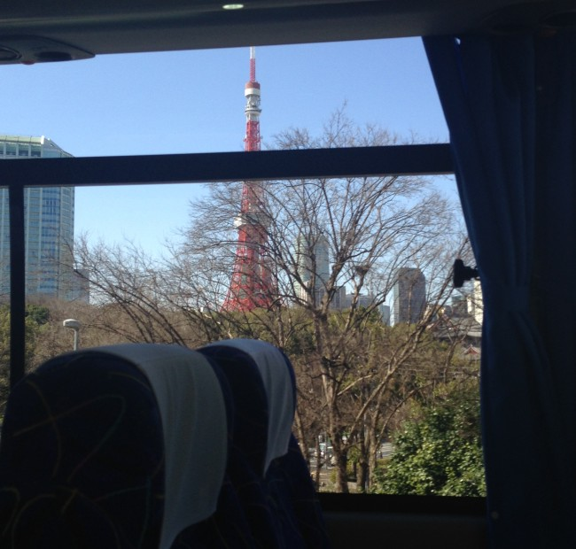 The view of Tokyo Tower as my bus made its way to Narita Airport.