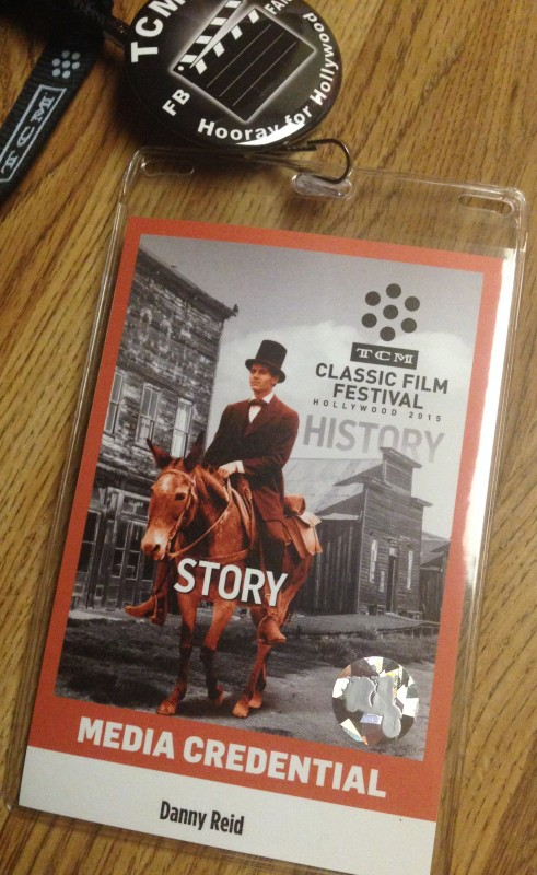 My media credentials, in case you wondered if I was wearing a picture of Henry Fonda on a horse all weekend long.