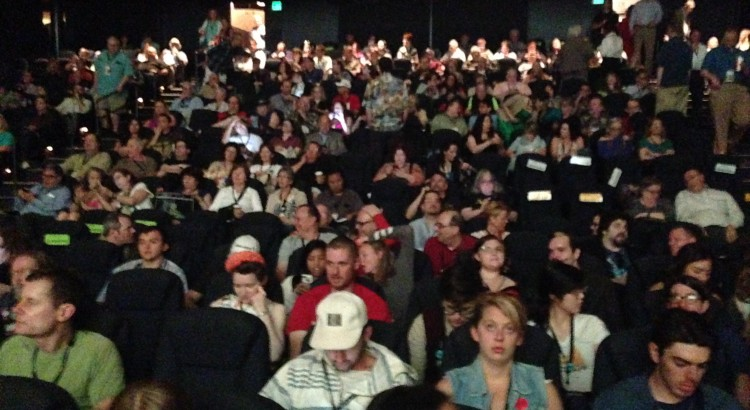 The packed Egyptian Theater.