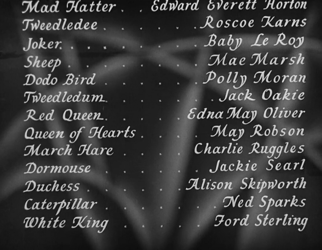 Alice in Wonderland 1933 Cast
