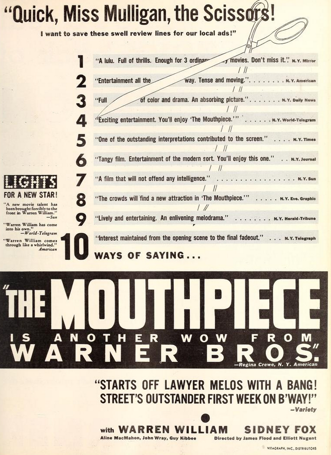 The Mouthpiece Warren William