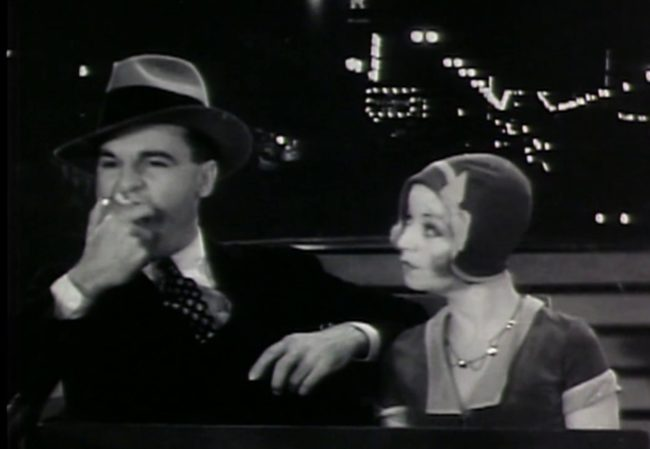 Enjoy 1930 special effects, where you can literally see through Alice White's head.