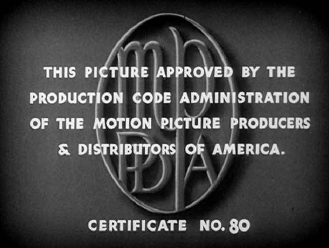 All motion pictures released after mid-1934 must have a Production Code seal attached. Movies that don't earn a seal can't be issued-- or reissued, as the case may be.