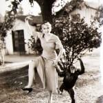 Joan Blondell adorable monkey