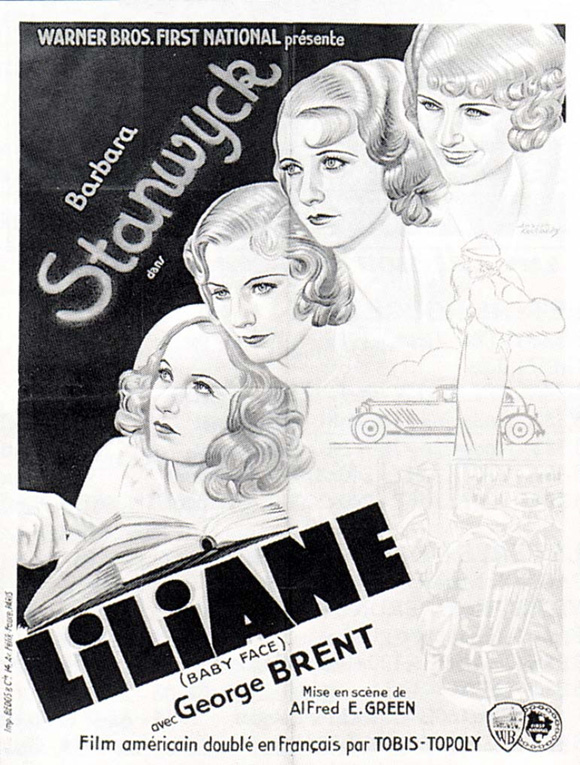 Baby Face movie poster 1933
