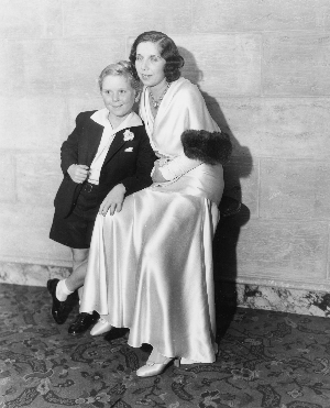 Nominee Jackie Cooper with his mother.