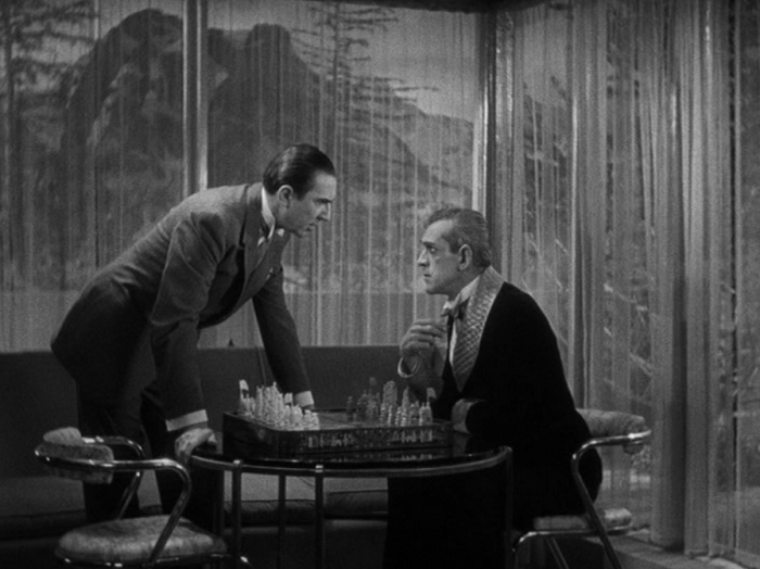 Black Cat 1934 Lugosi Karloff chess