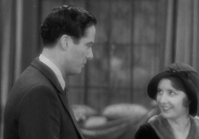 The movie summed up: Odd framing, lovely smile.