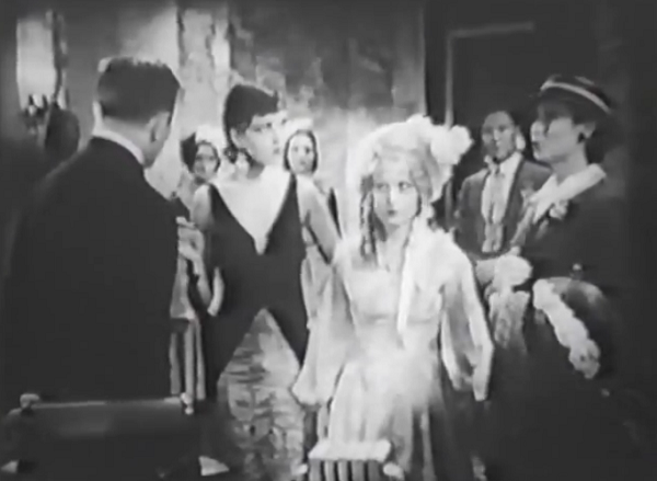 The speech therapists are introduced to these two, spitting images of Theda Bara and Mary Pickford. Bara here has a think New York accent, while Pickford squeaks mercilessly.