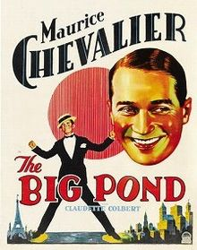 The Big Pond Chevalier Colbert 1930 Poster 1