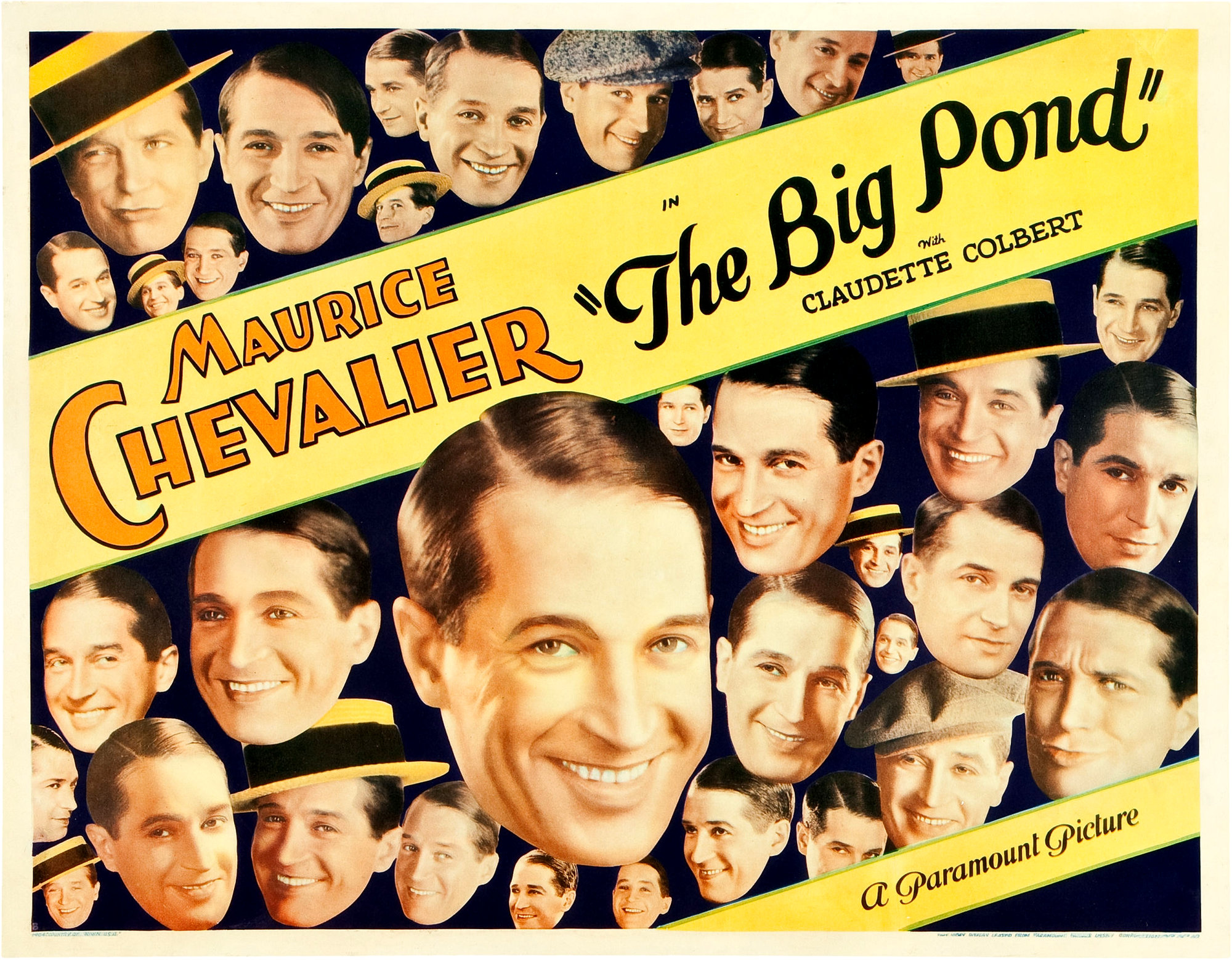 The Big Pond Chevalier Colbert 1930 Poster 2