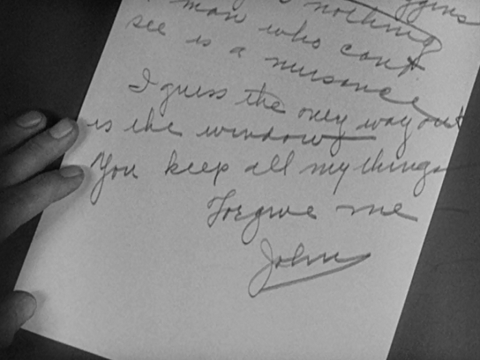 I love the little detail that the blind man accidentally wrote off the page a bit.