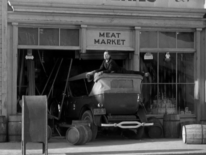 And so he rides gallantly off into... uh, the meat market.