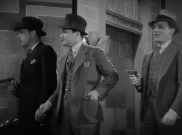 Lucky at cards, lucky at having henchmen waiting outside the door with guns!