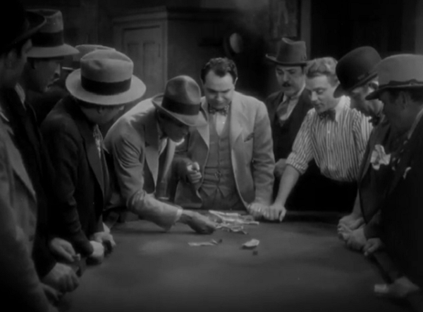 That's Karloff in the goofy hat, Cagney in the goofy shirt, and Robinson... well, he's the star of the picture.