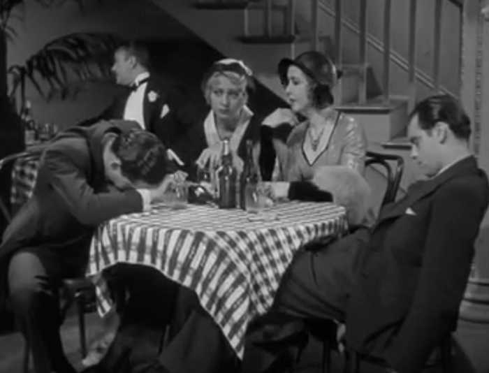 Those two guys passed out having a drink with Joan Blondell and Mae Clarke-- making them probably the biggest suckers in the history of movies.