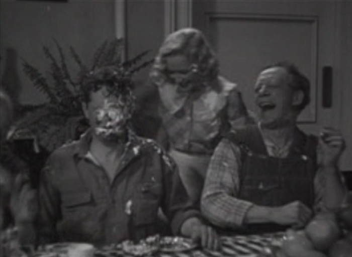 A pie fight makes everything better.