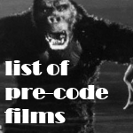 List of Pre-Code Films