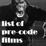 List of Pre-Code Films