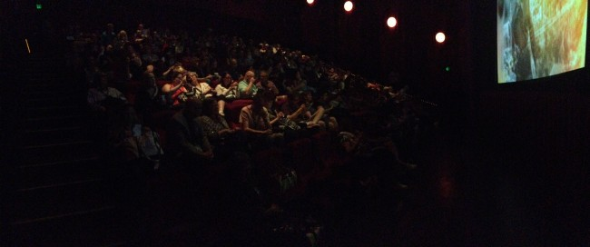 The packed movie theater. As I observed at the time, if a bomb went off, half the classic film bloggers in the world would've been wiped out.