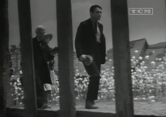 Director Curtiz captures Barthelmess framed behind symbolic bars several times in the picture.