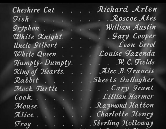 Alice in Wonderland 1933 Cast
