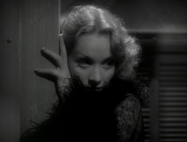 There are minutes of just long shots of a pensive Dietrich shot with atmosphere to spare.
